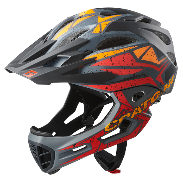 Prilba CRATONI C-MANIAC Pro - black-red-orange matt 2020, L-XL (59-62cm)