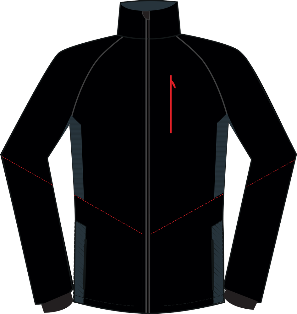 Pánska športová softshellová bunda Silvini NATISONE MJ1100 black red ... f944ee7e3ba
