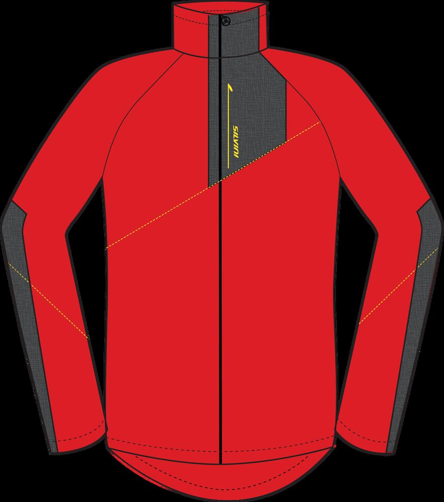 Pánska športová mikina Silvini FERRATO PRO MJ1146 red charcoal - E ... a9f80fc19b