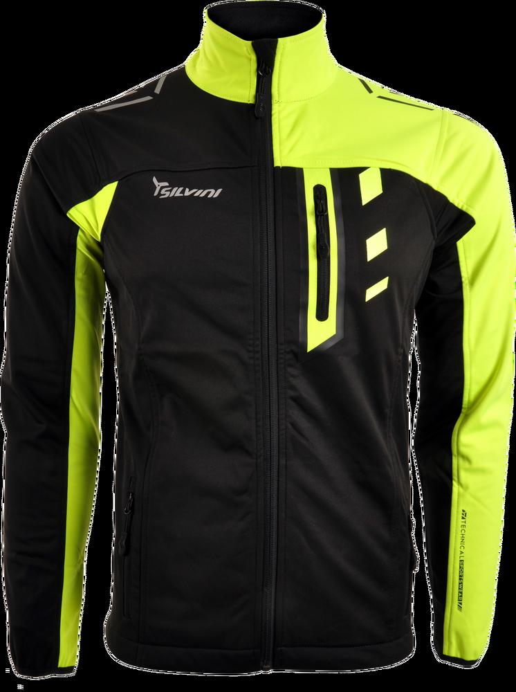 Pánska športová bunda Silvini CASINO MJ701 neon black - E-shop ... a9b509166b0