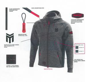 Mikina MAXXIS Performance Hoodie Gray L
