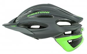 Prilba CRATONI C-Limit black-neongreen rubber 2015, M/L (56-59cm)