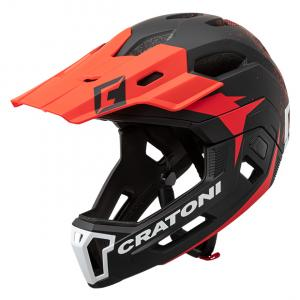 Prilba CRATONI C-MANIAC 2.0 MX - black-red matt 2020, M-L (56-59cm)