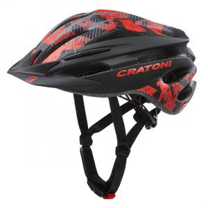 Prilba CRATONI PACER - black-red matt 2020, S-M (54-58cm)