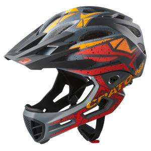 Prilba CRATONI C-MANIAC Pro - black-red-orange matt 2020, S-M (53-56cm)