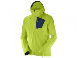 Pánská softshellová bunda SALOMON RANGER SOFTSHELL JKT M LIME PUNCH L