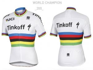Dres Sportful TINKOFF SAXO World Champion BodyFit Pro Team Jersey