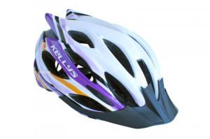 Prilba Kellys DYNAMIC white-alpine purple M/L