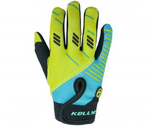 Rukavice KELLYS Gouki, blue-lime