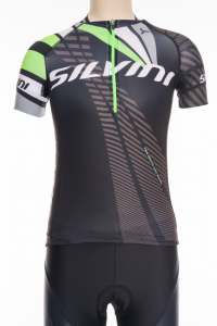 Detský dres Silvini Team CD1435 black/green