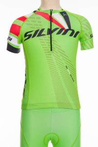 Detský dres Silvini Team CD1435 green/red