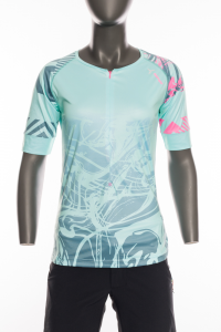 Dámsky MTB dres Silvini Stabina WD1432 turquoise/pink