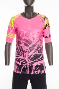 Dámsky MTB dres Silvini Stabina WD1432 pink/neon