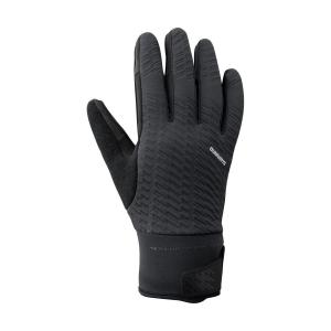 SHIMANO Rukavice WINDBREAK THERMAL REFLECTIVE čierne /Vel:M